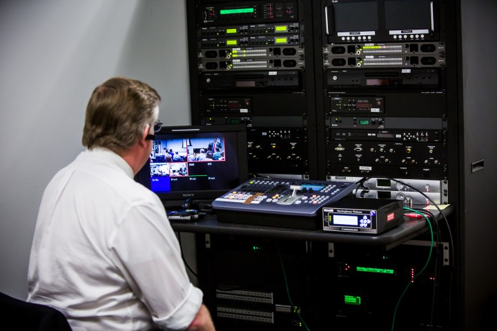 Audiovisual staff recorded and broadcast streams of keynotes