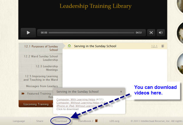 Download Leadership Training Library Videos