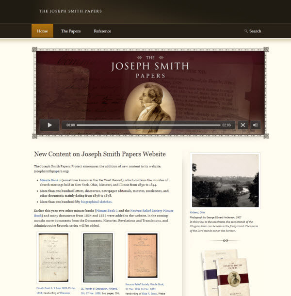 Joseph Smith Papers Website