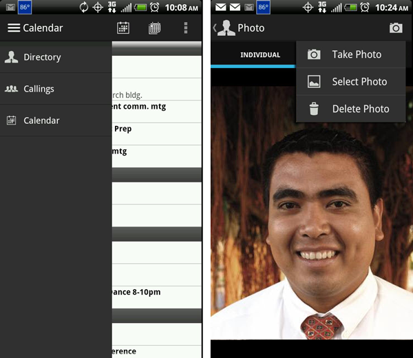 LDS Tools for Android -- photo upload and interface