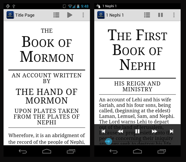 Book of Mormon App for Android