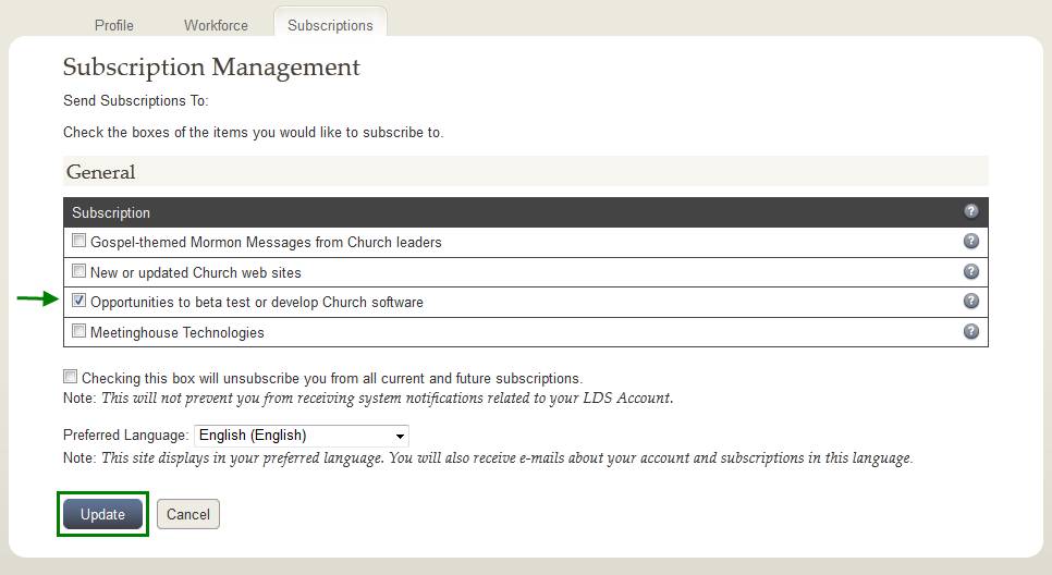 LDS Account Subscriptions
