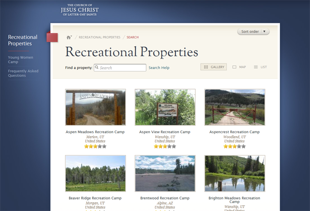 Camping lds org: A Central Site for Church Recreational Properties
