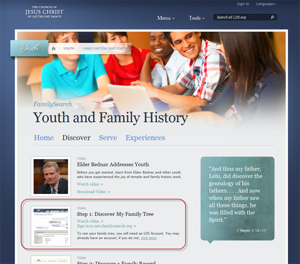 Step One: Youth and Family History