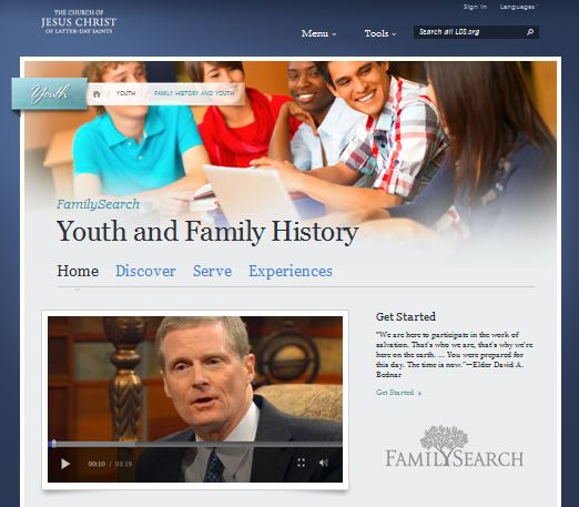 Youth and Family History Website